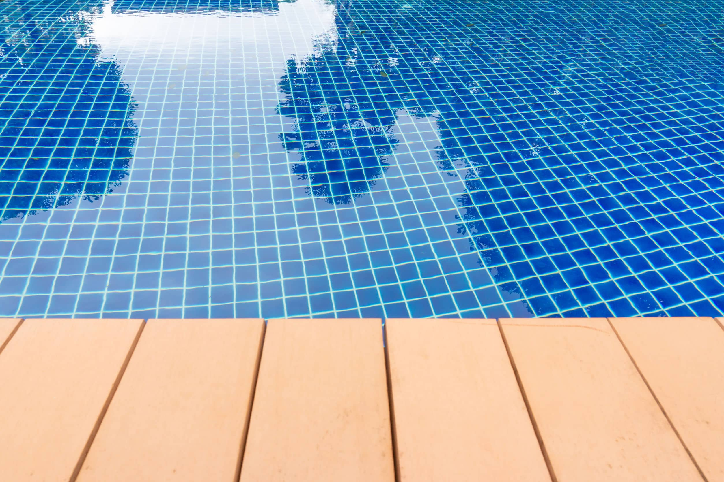 Affordable Pool Resurfacing. A phot of a resurfaced pool and deck